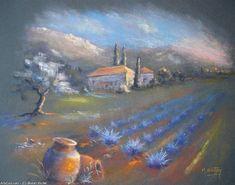 Breton Michel - peak of the DAY provencal Soft Pastel Art, Pastel Artwork, Pastel Drawing, Soft Pastels, Beautiful Landscape Paintings, Pastel Landscape, Pastel Pencils, Chalk Pastels, Art Tutorials