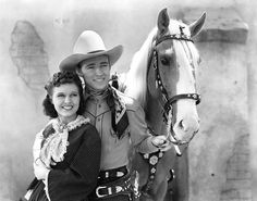 """Known as the """"King of the Cowboys,"""" it's hard to pick just one role for Rogers. He starred in more than 100 films and numerous radio and television episodes of The Roy Rogers Show, many times with his wife Dale Evans. Tennessee Walking Horse, Republic Pictures, Dale Evans, Horse Facts, Billy The Kids, Roy Rogers, Happy Trails, Great Tv Shows, Western Movies"""