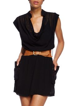 Shae Shirtdress by JustFab is such a cool way to incorporate menswear into your wardrobe.