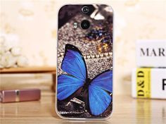 cartoon animal back case with detachable bumper for HTC One - butterfly Htc Phone Cases, Htc One M8, Video Games, Cartoon, Frame, Accessories, Hornet, Vintage, Butterfly