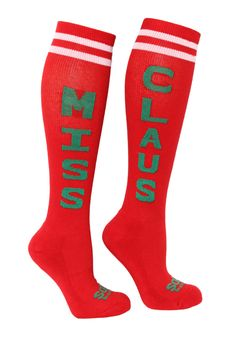 I'll be rocking these great socks at the Ugly Sweater Run 5K! Miss Claus socks from The Sox Box, $9.99 Ugly Sweater Run, Disney Princess Half Marathon, Running Costumes, Fitness Motivation, Exercise Motivation, Runners High, Run Disney, Slipper Socks, Holiday Fun