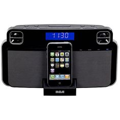 RCA RC180i Alarm Clock AM/FM Radio for iPhone and iPod $34.99 to $76.38 The RCA RC180i Alarm Clock AM/FM Radio gets you up and moving for a great day ahead. A perfect docking, charging, and playing station for iPhones and iPods, it allows for dynamic interaction with these high-end gadgets with the freely downloadable N-hance App technology.