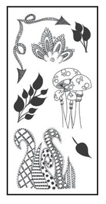 Dylusions Clear Stamp Set - Clearly Doodle Parts