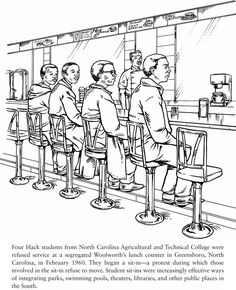 Dover Publications Civil Rights coloring book--free sample pages ...