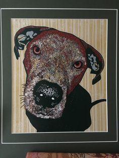 Alfie 1 Linocut Prints, Moose Art, Animals, Animaux, Animal, Animales, Animais