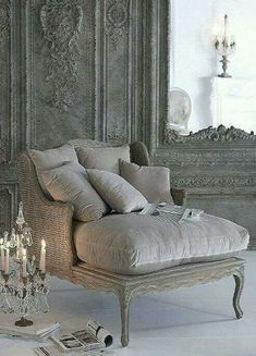 The short chaise, with down fill on the cushion.