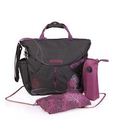 Look what I found on #zulily! okiedog Black & Purple Dahoma Sumo Big Diaper Messenger Bag by okiedog #zulilyfinds