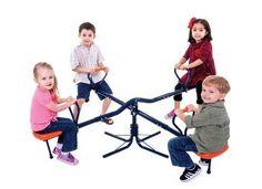 Roundabout Seesaw 4 Seats Rotate Kids Children Playground Outdoor Garden School