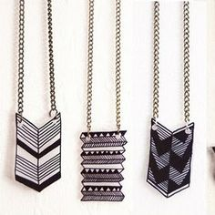 Diy Tutorial: Geometric Jewelry With Shrinky Dink Paper ... I think this is great! See more awesome stuff at http://craftorganizer.org