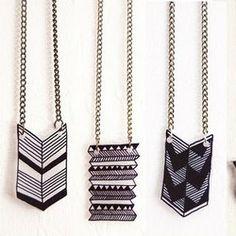 DIY Tutorial: Geometric Jewelry - Shrinky Dinks