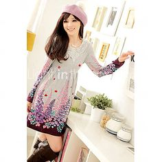 Women's Floral Print Gathered Dress(More Colors)