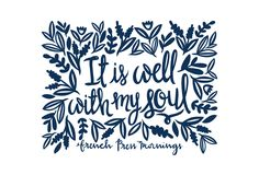 """It is well with my soul""Get this print in my shop!And be sure to check out my cases in my Casetify shop!Read the story behind Encouraging WednesdaysMy hope is that you download this file and place it where…"