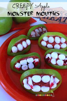 Creepy Monster Apple Mouths Recipe