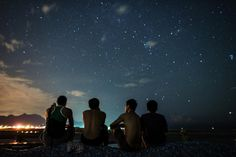 And the nights, bigger than imagining: black and gusty and enormous, disordered and wild with stars...