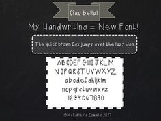 CIAO BELLA!Great new {handwritten} font for all you font collectors like meeeee!PLEASE NOTE: Be sure you know how to download and install a font PRIOR to purchasing this license. I will not be able to provide customer support for font installation. If you need help with this, there is a great FAQ here: Installation Instructions(-: It really is super easy!
