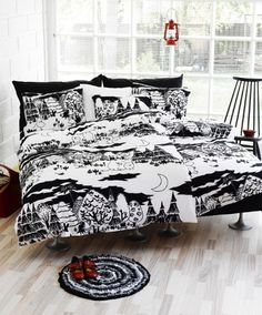 Moomin Night bed linen from Finlayson by Finlayson, Tove Jansson Duvet Bedding, Linen Bedding, Bedding Sets, Bed Linens, Bed Linen Sets, Bed Sets, Dream Bedroom, Home Bedroom, Bedrooms