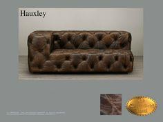 Chesterfield 2 asiento</br>Hauxley 2, left Old Look Marrón