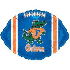 NCAA Florida Gators Royal Blue 18'' Foil Football Balloon:Amazon:Home & Kitchen