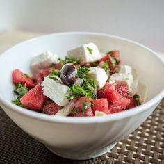 Salata od lubenice sa feta sirom i maslinama