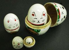 JapanBargain Educational Products - White Maneki Neko Matryoshka Nesting Doll #MD1/W - Set of 5 Nesting DollsDimension From Largest to Smallest:* 3-3/4in H x 2-1/2in Dia * 3in H x 2in Dia* 2-1/8in H x 1-1/2in Dia* 1-1/2in H x JapanBargain,http://www.amazon.com/dp/B003ZU05D4/ref=cm_sw_r_pi_dp_g8QMsb06B7DZM5FM
