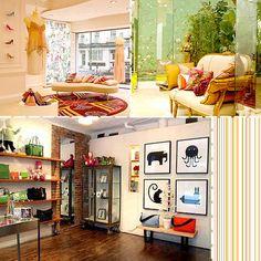 Mathew Williamson's shop in London     Kate Spade Baby in SoHo New York.