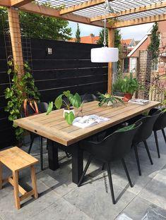 Small Backyard Gardens, Backyard Patio Designs, Pergola Patio, Back Gardens, Backyard Landscaping, Canopy Outdoor, Outdoor Rooms, Outdoor Dining, Outdoor Decor