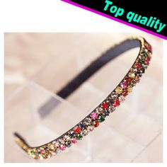 Smile Korean Fashion Colorful Rhinestone Crystal Hairbands Hair Accessory Glitter Hair -- For more information, visit image link.
