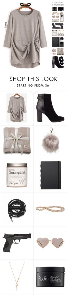 """""""[ your mind's a total blank ]"""" by pastelmalfoy ❤ liked on Polyvore featuring Jigsaw, UGG, Nila Anthony, Muji, Urbanears, Smith & Wesson, Wildfox, Samantha Wills and Rodial"""