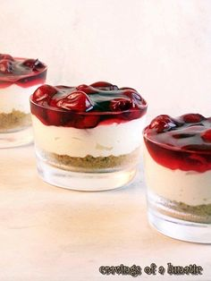 Cherry Cheesecake by Cravings of a Lunatic | Easy no bake recipe, my personal favourite cheesecake!