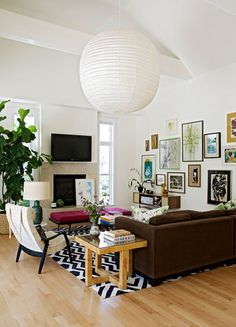 Angie Hranowsky Royall living room gallery wall