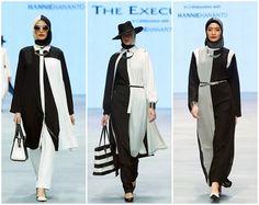hanie hananto 1 Tribal Fashion, Work Fashion, Modest Fashion, Fashion Dresses, Fashion Design, Moslem Fashion, Hijab Fashionista, Fashion Week 2015, Hijab Chic
