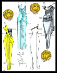 paper doll dresses Versace