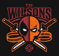 A Deadpool t-shirt by shoden. The Wilsons features DC Comics' Deathstroke and Marvel Comics' Deadpool, Slade Wilson and Wade Wilson. Deadpool Deathstroke, Deathstroke The Terminator, Punisher, Art Deadpool, Comic Book Characters, Comic Books, Comic Villains, Dc Comics, Image Comics