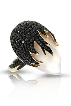 Gasp! Phillips Frankel. Yellow gold with black diamonds.