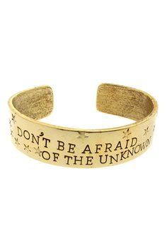Don't Be Afraid Cuff - Gold