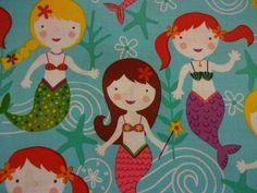 "Beautiful ""SEA OF MERMAIDS"" Handmade Cotton Pillowcase Standard/Queen #Handmade #Fantasy"
