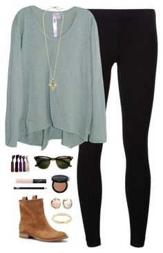 #fall #outfit / Beige Leather Booties + Black Leggins
