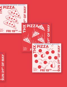 We all love Pizza!THX PIZZA was a group exhibition we organized with over 40 national and international artists. It took place at the punktkommastrich gallery in Düsseldorf, Germany. Pizza Branding, Food Branding, Pizza Logo, Bakery Branding, Office Branding, Restaurant Branding, Identity Branding, Corporate Identity, Identity Design
