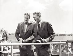 Big Jim McLain, 1952. Wayne with friend James Arnes.  Movie #109.  Aug. 1952.  Directed by Edward Ludwig,  With James Arness, Nancy Olson, Alan Napier.