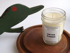 Geranium scented candle 6 oz soy candle Fresh by NolaAndNeighbors