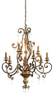 Quoizel QZ-MQ5009HL Marquette Traditional Chandelier - traditional - chandeliers - by Arcadian Home & Lighting
