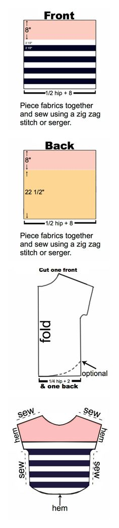 """From my cousin's amazing blog... I Make Stuff.: """"Nautical Diva"""" Color Block Shirt Tutorial... Makes me wish I had a serger (or a sewing machine for that matter!)"""