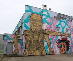 Strange work by Chilla in #Vilnius #Lithuania - http://globalstreetart.com/chilla  #globalstreetart