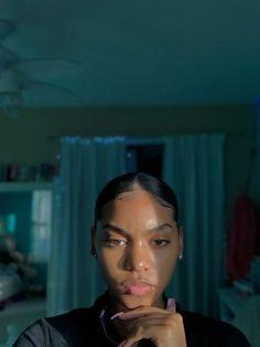 Pretty Black Girls, Beautiful Black Girl, Baddie Hairstyles, Black Girls Hairstyles, Slick Hairstyles, Medium Hairstyles, Glowy Skin, Flawless Skin, Curly Hair Styles
