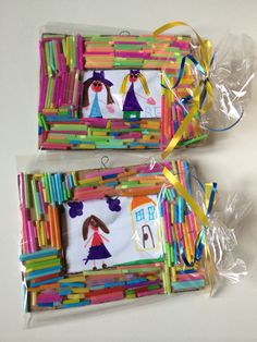 Looks like straws Art Activities For Kids, Preschool Art, Preschool Activities, Art For Kids, Frame Crafts, Diy Frame, Paper Picture Frames, Popsicle Stick Crafts, Fathers Day Crafts