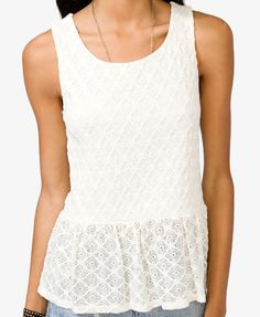Knotted Lace Top | FOREVER21 - 2022478357