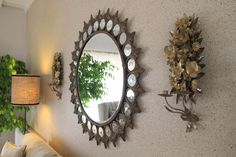 Enhance your home decor with driftwood mirror for unique and functional furniture. Nautical theme is best selling these days Driftwood Mirror, Diy Mirror, Home Wall Decor, Room Decor, Sunburst Mirror, Interior Walls, Unique Furniture, Crate And Barrel, Rustic Style