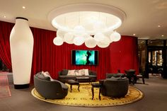 Kameha Grand Zurich Hotel by Marcel Wanders - News & Events Marcel, Zurich, Hotel Lobby Interior Design, Pot Lights, Suspension Design, Hotel Decor, Luminaire Design, Design Blog, Design Furniture