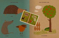 """Meine kleinen Naturbücher  """"Mein kleiner Garten"""" und """"Mein kleiner Wald"""" sind zwei liebevoll gestaltete Bilderbücher, die ihre kleinen Leser mit in die heimische Natur nehmen.  Die dicke Recyclingpappe fasst sich richtig gut an, die erdigen Farbtöne sehen besonders aus und sind mit Ökofarben gedruckt. Ein toller Gegenentwurf zu Hochglanz-Kinderbüchern."""