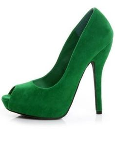 Gorgeous emerald green pumps